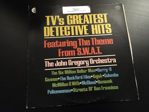 1976 Vintage Record TV Greatest Detective Hits Album LP (Classic TV theme Music) for Sale in Pasadena, CA