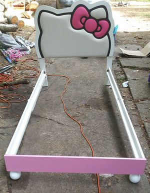 Twin size Hello Kitty bed frame only no mattress for Sale in Tallahassee, FL