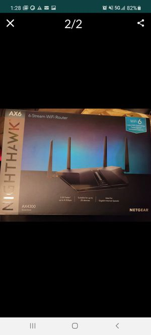 Netgear Nighthawk AX6 WiFi Router for Sale in Sunrise, FL