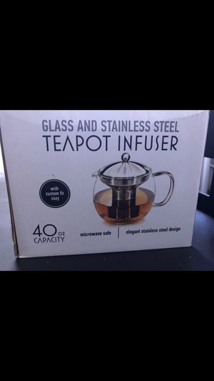Glass and stainless steel teapot infused- Brand new for Sale in Austin, TX