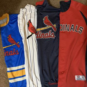 XL Cardinals Baseball Jerseys/ Jackets for Sale in Fairview Heights, IL