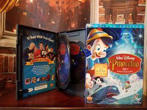 Disney's Pinocchio 70th Anniversary Platinum Edition 2 Disk DVD Set Slipcover for Sale in Lutz, FL