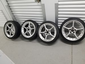 "Oem 18 "" bmw wheels with run flat tires $500 for Sale in Providence, RI"