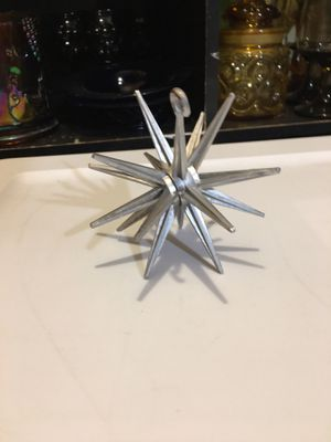 Vintage 1950s Christmas ornaments silver atomic starburst for Sale in Warner Robins, GA