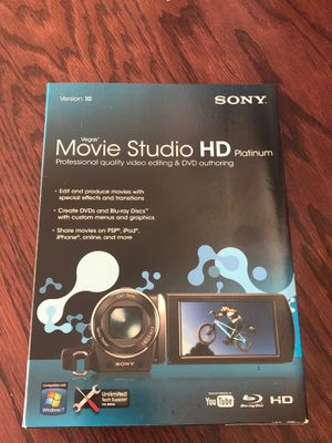 Sony Vegas Movie Studio HD Platinum v10 for Sale in Clermont, FL