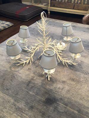White Rustic Chandelier for Sale in Denver, CO