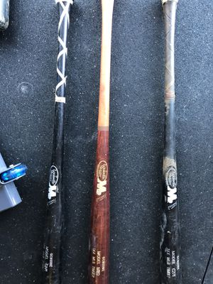 Three quality wooden baseball bats 80 bucks each or 140 for all for Sale in Puyallup, WA