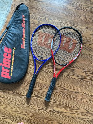Two Wilson Impact Titanium Volcanic Frame Technology Tennis Rackets for Sale in Chicago, IL