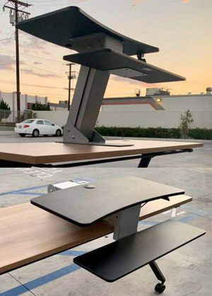"""New in box HON Model HS1100 Desk Top Riser Work Adjustable Height Sit to Stand Desktop Mounted Works Between 20"""" to 30"""" Depth NOT INCLUDE DESK for Sale in West Covina, CA"""