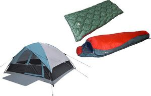 Alpinizmo High Peak USA Moffit 6 Men Tent Sleeping Bags Combo Set for Sale in Las Vegas, NV