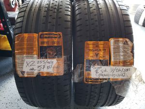 2 Continental Contisportcontact 2 255/40r/19 tires for Sale in San Diego, CA