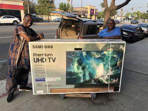 Samsung 75 inch 4K TV eight series smart 120hz iUn75Ru8000 for Sale in Norwalk, CA