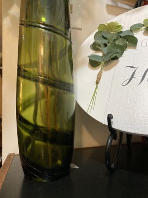 Tall glass vase flower dry arrangement for Sale in Mansfield, MA