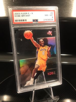 Fleer eX Kobe Bryant Basketball Card - RARE - Lakers Jersey 8 Collectible - PSA graded NM MT - $129 OBO for Sale in Carlsbad, CA