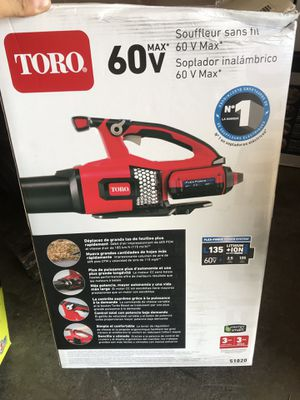 Toro 115 MPH 605 CFM 60-Volt Max Lithium-Ion Brushless Cordless Leaf Blower - 2.5 Ah Battery and Charger Included for Sale in Temple City, CA