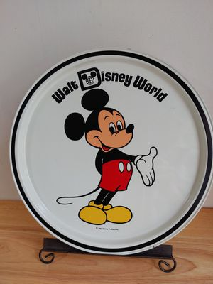 Micky Mouse Cartoon Character Metal Disney Tray Platter Souvenoir Tin Display Art for Sale in Lake Shore, MD