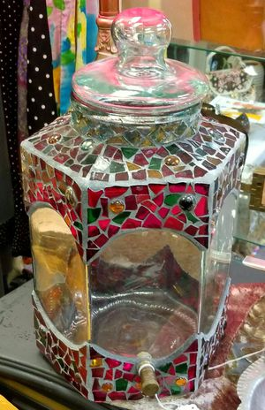 Stained Glass Red Mosiac Beverage Canister or Container for Sale in Kirkland, WA