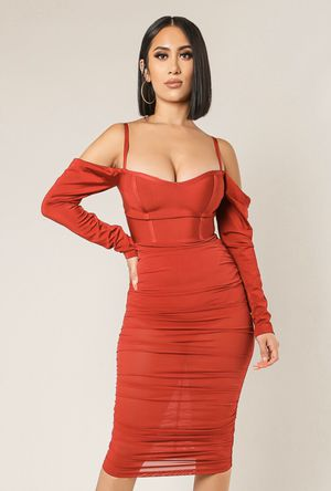 Red sexy semi sheer Bodycon mini dress for Sale in Laurel, MD