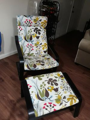 Colorful chair with ottoman for Sale in Fresno, CA
