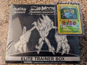 Pokemon TCG Burning Shadows ETB *sealed* for Sale in Riverside, CA