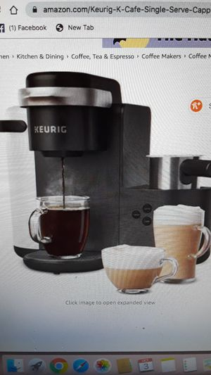 Keurig latte and cappucino maker with milk frother for Sale in Queens, NY