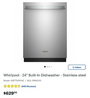 Whirlpool built in dish washer for Sale in Lake Elsinore, CA