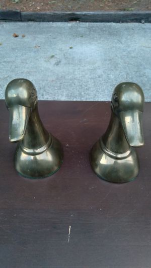 2 brass duck bookends for Sale in Grayson, GA