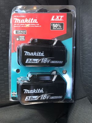 Makita 18-Volt LXT Lithium-Ion High Capacity Battery Pack 3.0Ah with Fuel Gauge (2-Pack) for Sale in Phoenix, AZ