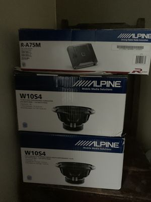Brand New Alpine Subwoofers and Amp for Sale in Murray, UT