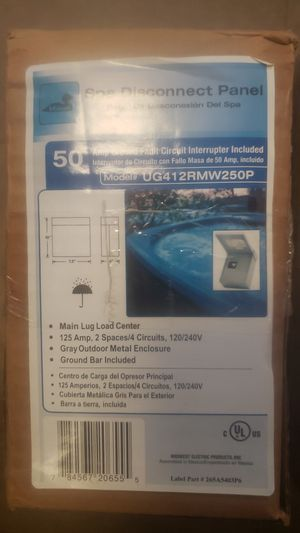 50 Amp GFI Spa Panel for Sale in North Las Vegas, NV