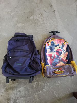 Meritline Blue and Power Ranger rolling wheel Backpacks for Sale in La Mesa, CA