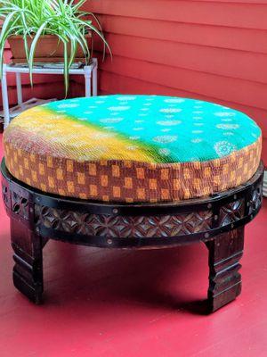 Hand-carved Indian Grinder Chakki table for Sale for sale  Englewood, NJ
