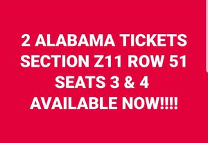UT ALABAMA TICKETS for Sale in Knoxville, TN