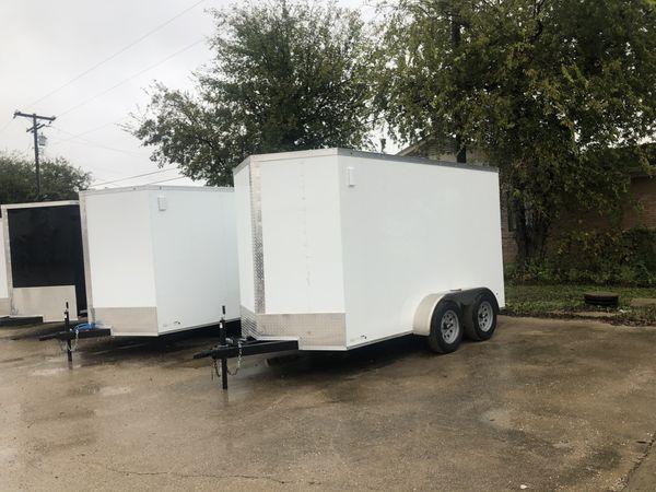 Enclosed cargo trailer 6x12 tandem axle