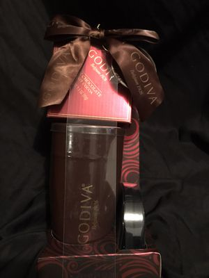 Godiva brown cup with lid and package of Coco never used for Sale in Cleveland, OH