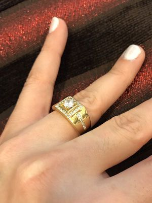 UNISEX-18K Gold plated Engagement/Promise Ring - Code WQ810 for Sale in Miami, FL