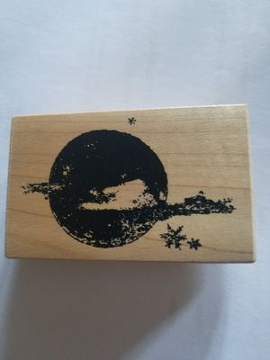 Starry moon rubber stamp for Sale in Chicago, IL