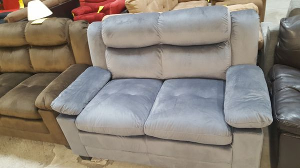 Brand New Grey Microfiber Sofa/Couch + Love Seat