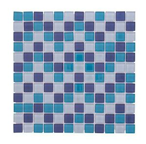 Crystal Pool Squares Glass Mosaic Blue / White for Sale in Pompano Beach, FL