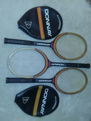 Vintage tennis racket lot allwood Donnay wooden tennis rackets for Sale in Wake Forest, NC