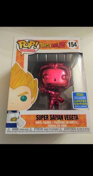 Funko POP Animation Dragonball Z Red Chrome Super Saiyan Vegeta Funko Limited Edition 2019 Summer Convention for Sale in El Paso, TX
