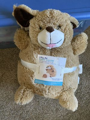 NEW 2 piece blanket and stuffed bear set for Sale in Vista, CA