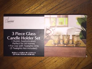 3 Piece Glass Candle Holder Set for Sale in Stockton, CA