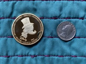 Disney 1€ euro gold plated coin for Sale in Azusa, CA