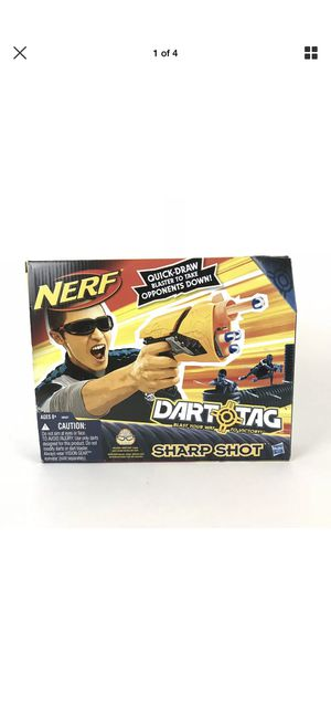 Nerf Dart Tag Sharp Shot With Quick Release Belt Clip Toy Gun for Sale in San Bernardino, CA