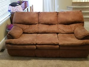 Sofa with built-in full-size bed! for Sale in Denver, CO