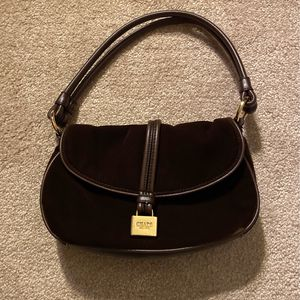 Chaps Handbag, Faux Velvet Brown for Sale in Wallingford, CT