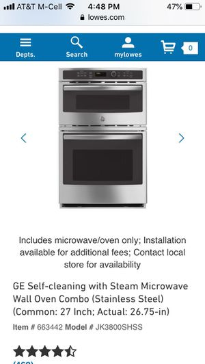 GE BUILT IN OVEN/ steam microwave combo stainless steel for Sale in Los Osos, CA