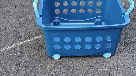 Toy Bin Blue Storage Bin for Sale in Red Bank,  NJ