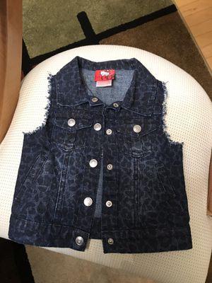 Girl's Denim 4Pockets Back Embellished Vest, 3T for Sale in Farmington Hills, MI